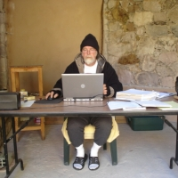 christopher-writing-in-his-cave-jan2010